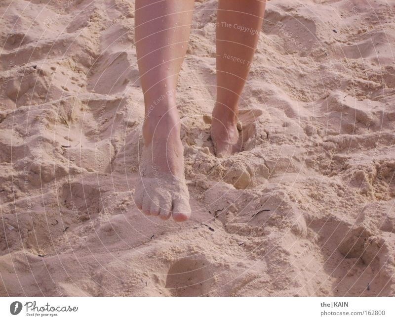 Feet on the beach Beach Sand Ocean Vacation & Travel Legs Tunisia Summer Earth Africa