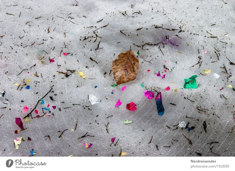 Colour Leaf Winter Snow Dirty New Year's Eve Trash Carnival Confetti