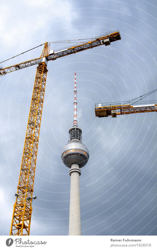 "Berlin-Mitte, the eternal construction site Technology ""berlin Berlin-Mitte"" Germany Europe Capital city Tower Manmade structures Build ""Crane cranes"