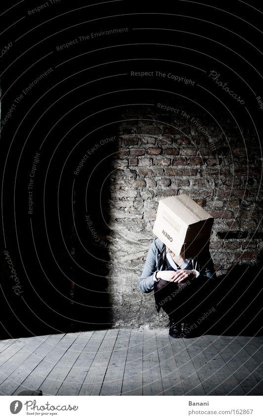 Loneliness Dark Sadness Rope Cardboard Stage lighting Attic Discern Disorientated