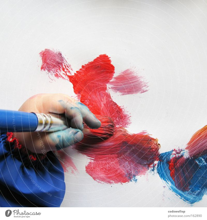 Child Hand Colour Baby Art Paper Study Creativity Toddler Human being Paintbrush Painter Arts and crafts