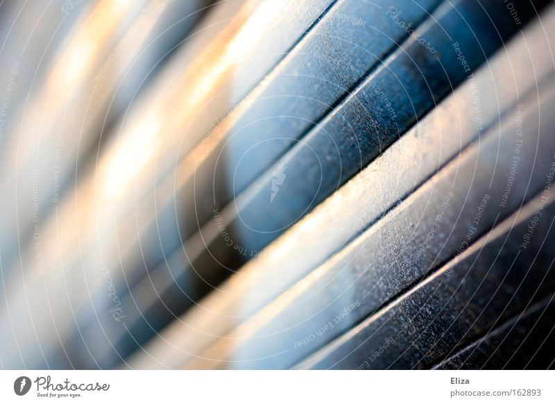 //// Roller blind Venetian blinds Graffiti Window Line Escape Graphic Macro (Extreme close-up) Blur Detail Close-up