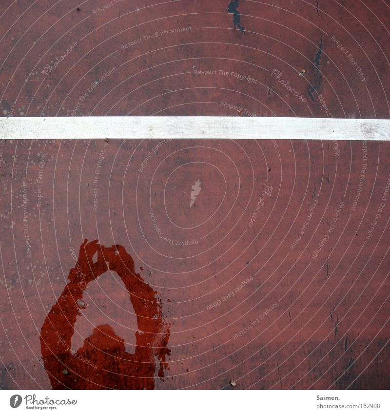 in the picture Detail Structures and shapes Shadow Ball sports Line Arrangement Divide Tennis court Division Divided Self portrait Considerable