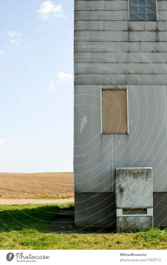 House (Residential Structure) Gray Field Village Idyll Derelict Beautiful weather