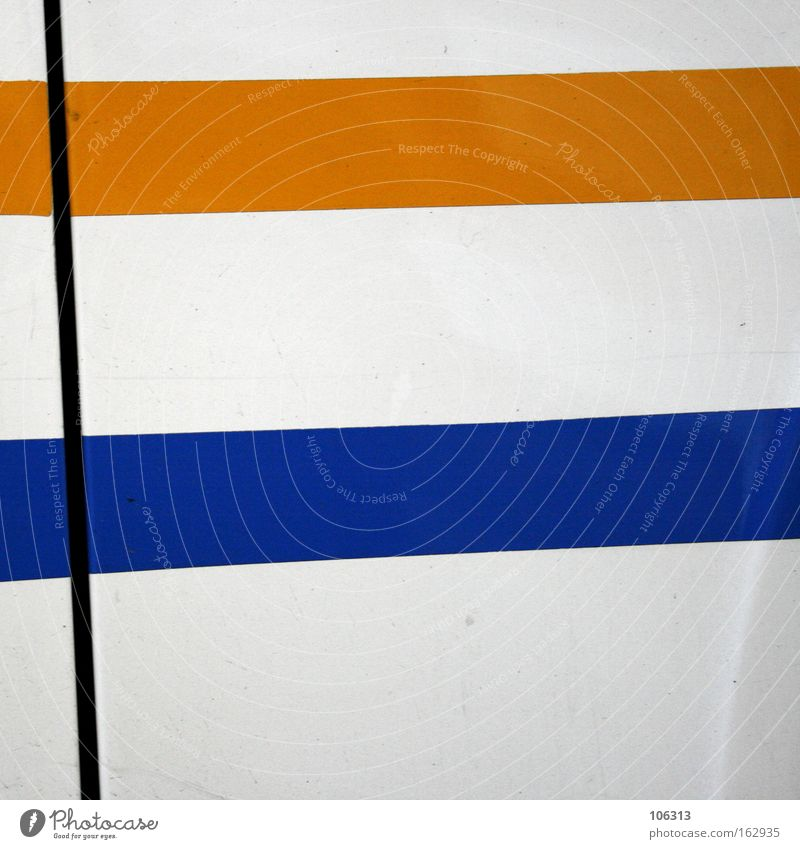 Photo number 117167 Yellow Blue Line White Structures and shapes Cut Warped Colour Haircut Tilt