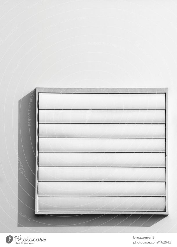 White Black Closed Square Geometry Rectangle Slat blinds Ventilation Air conditioning