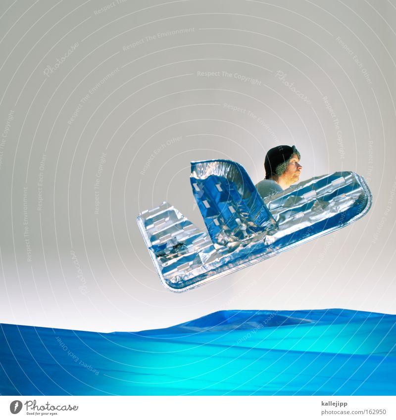 Human being Man Water Ocean Airplane Literature Aviation Aircraft Adventure Culture Obscure Comic Aluminium Placed Atlantic Ocean Artificial