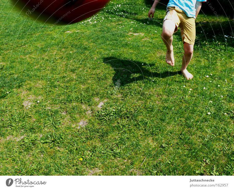 Almost over... Ball Soccer Foot ball Infancy Legs Shoot Strike Direct hit Barefoot Playing Dangerous Juttas snail