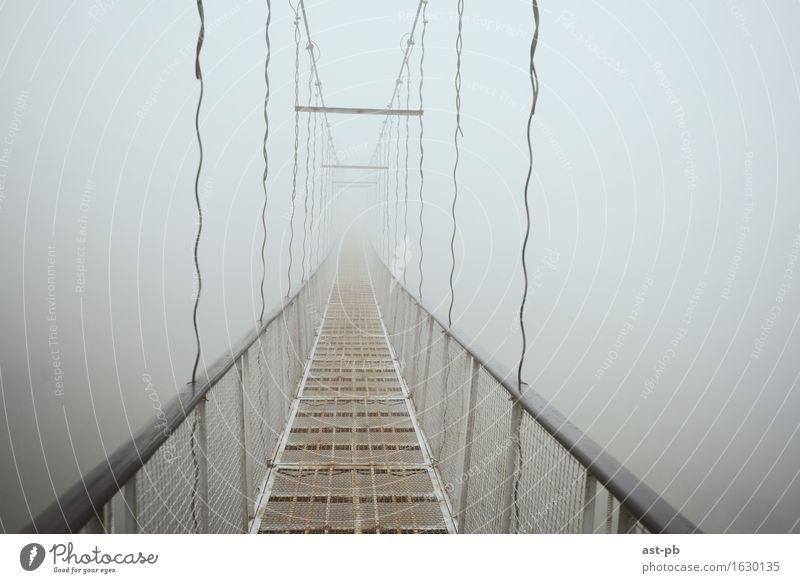 Bridge to nowhere Fog Where Sadness rope bridge wonderworld Clouds
