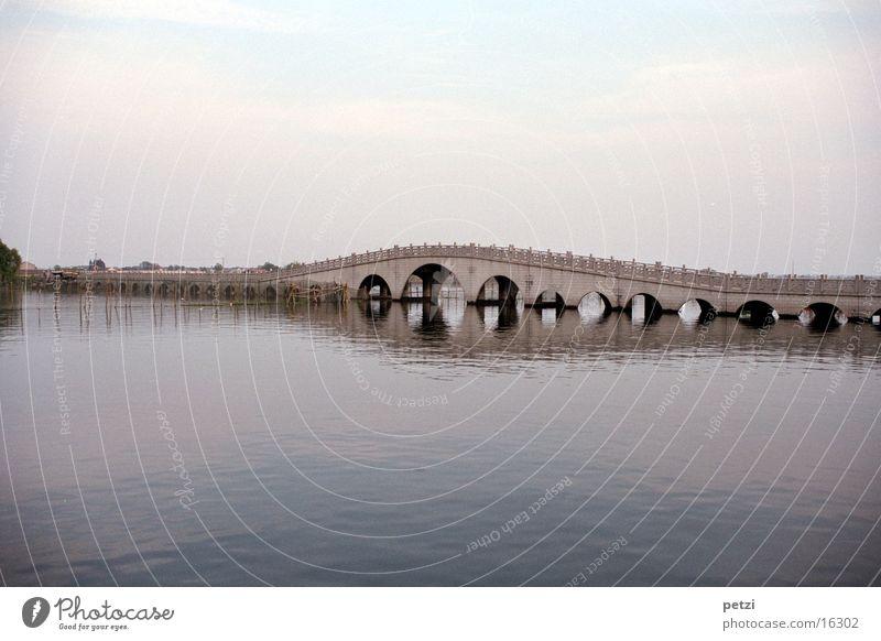 Quanfu Bridge China Venice Morning Zhouzhuang Water River Dawn