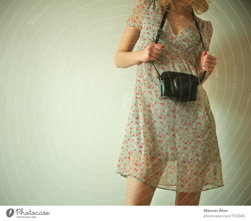 I'll take a picture of... Dress Clothing Photography Bag Woman Hand Spring Legs Fashion