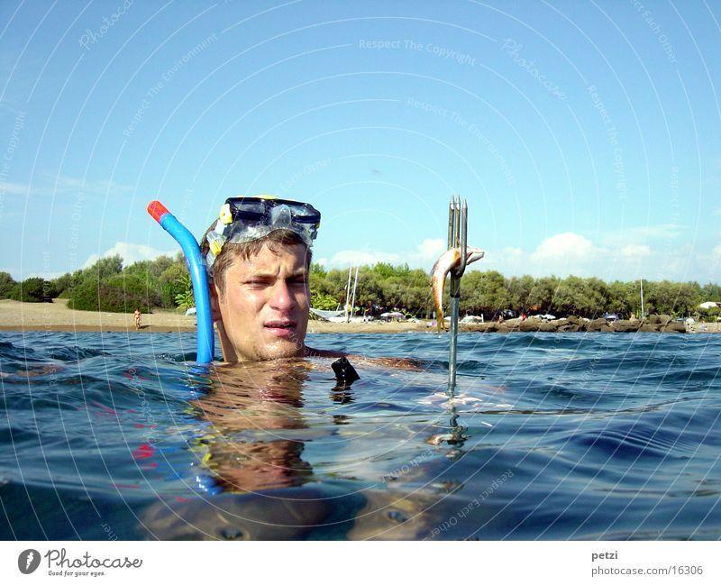 Ocean Beach Sports Fish Captured Greece Snorkeling Diving goggles Dart Trident