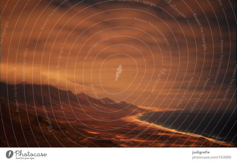 Sky Ocean Beach Clouds Colour Coast Island Storm Eerie Slide Atlantic Ocean Fuerteventura