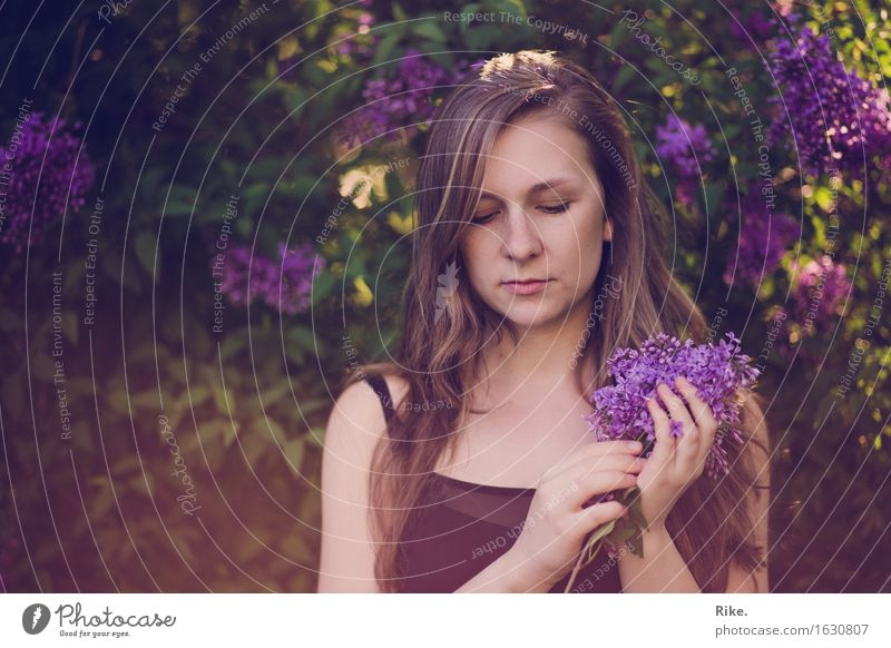 Human being Nature Youth (Young adults) Plant Summer Beautiful Young woman Flower 18 - 30 years Adults Environment Blossom Emotions Natural Feminine Healthy
