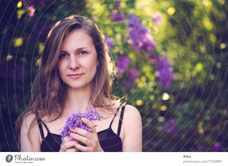 Human being Nature Youth (Young adults) Plant Summer Beautiful Young woman Relaxation 18 - 30 years Adults Environment Natural Feminine Healthy Dream