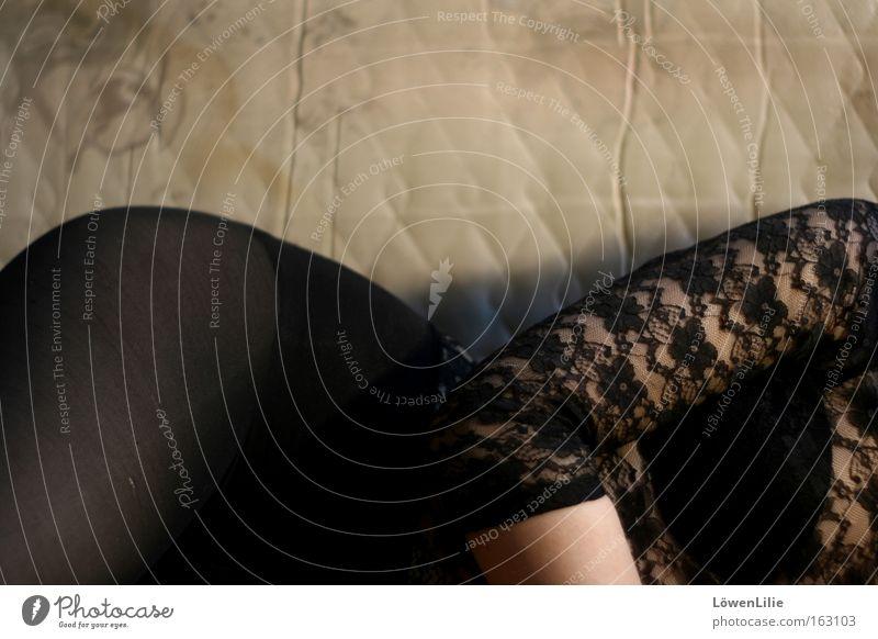curves Feminine Hip Lace Black Eroticism Woman Elbow Air mattress Lie