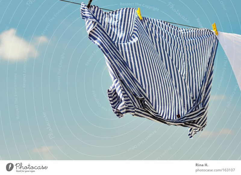 Beautiful Sky White Blue Summer Joy Clouds Yellow Happy Contentment Wind Clothing Fresh Clean Pure Stripe