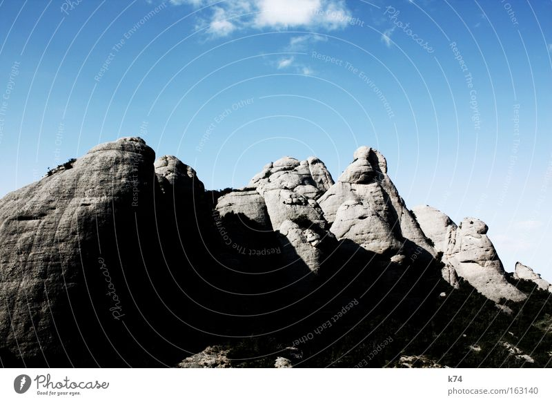 Sky Calm Mountain Stone Power Large Rock Force Peak Elements Barcelona