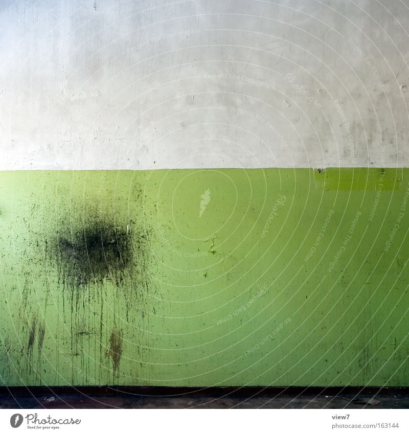 Old Green Colour Wall (building) Dirty Background picture Ground Floor covering Decoration Stripe Derelict Idea Patch Plaster Forget Varnish