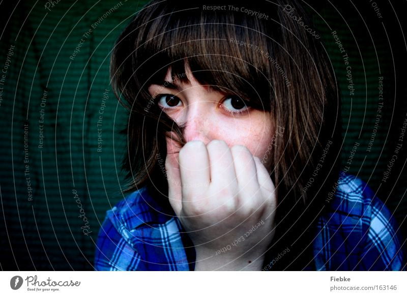 Woman Human being Hand Youth (Young adults) Face Calm Eyes Emotions Dream Hair and hairstyles Adults Peace Longing Mysterious Direct Thought