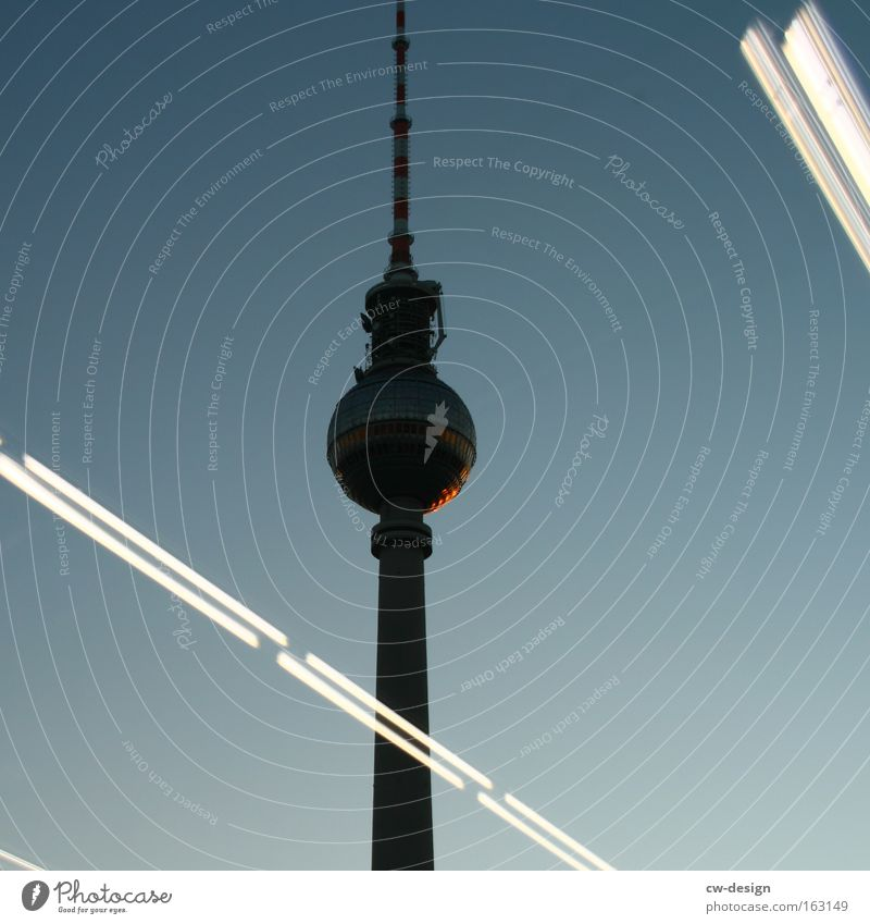 That's not Berlin [Pt. II] Berlin TV Tower Television tower Reflection Night Twilight Alexanderplatz Capital city Architecture Silhouette Landmark Germany