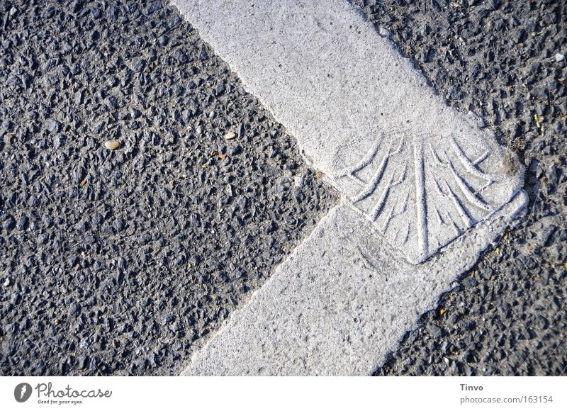 distinguished Pavement Structures and shapes Rough Connectedness Tire tread Distinguish oneself Footprint Pattern Skid marks Arrow Simple Traffic infrastructure