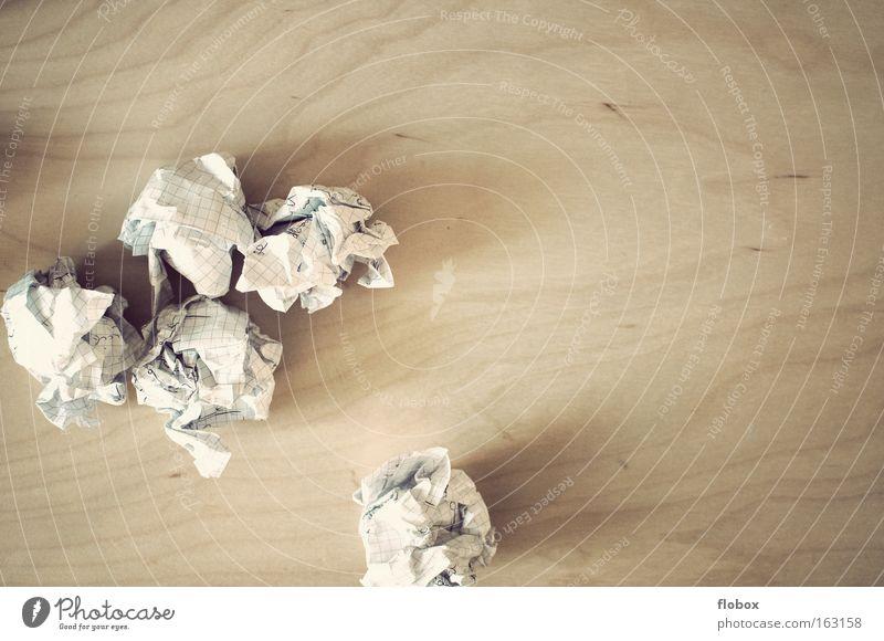 Study Success Paper Trash Write Wrinkles Creativity Idea Management Knot Brainstorming Stack of paper Wastepaper Paper jam