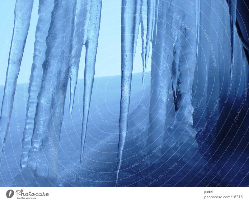 ice age Winter Icicle Roof Cold Frozen White Eaves Snow Blue