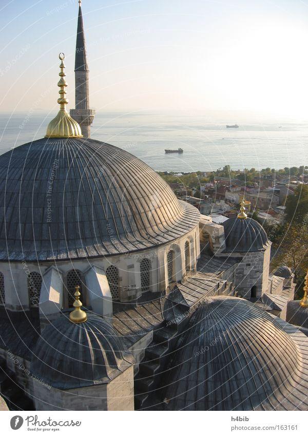 Sky Ocean Blue Turkey Monument Landmark Sunset Istanbul Domed roof Mosque Culture Minaret