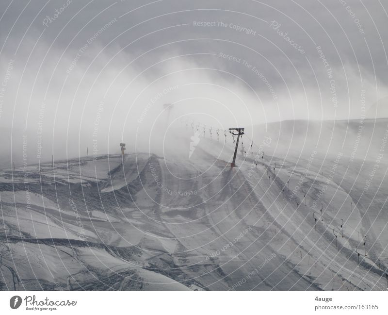 Clouds Winter Mountain Snow Empty Ski resort Snowscape Slope Pull Dolomites South Tyrol Ski lift Ski run Cable car Ski tow
