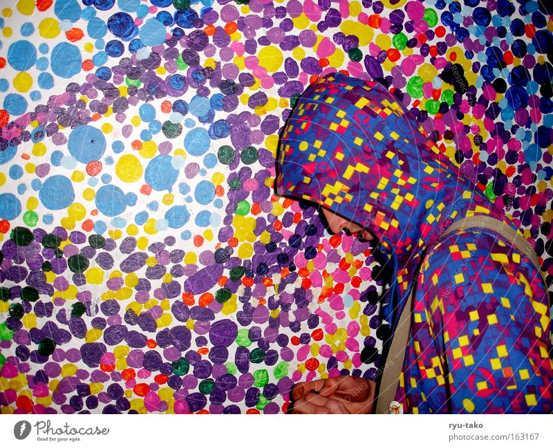 Man Colour Wall (building) Image Point Human being Hide Sweater Muddled Hooded (clothing) Equal