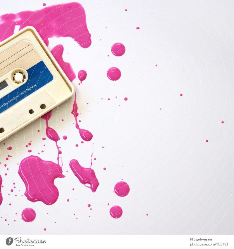 "Ost-Tape overlooks ""freshly painted"" sign Tape cassette Colour Patch GDR Ghetto blaster Entertainment Media Things case magnetic tape orwhere mc"