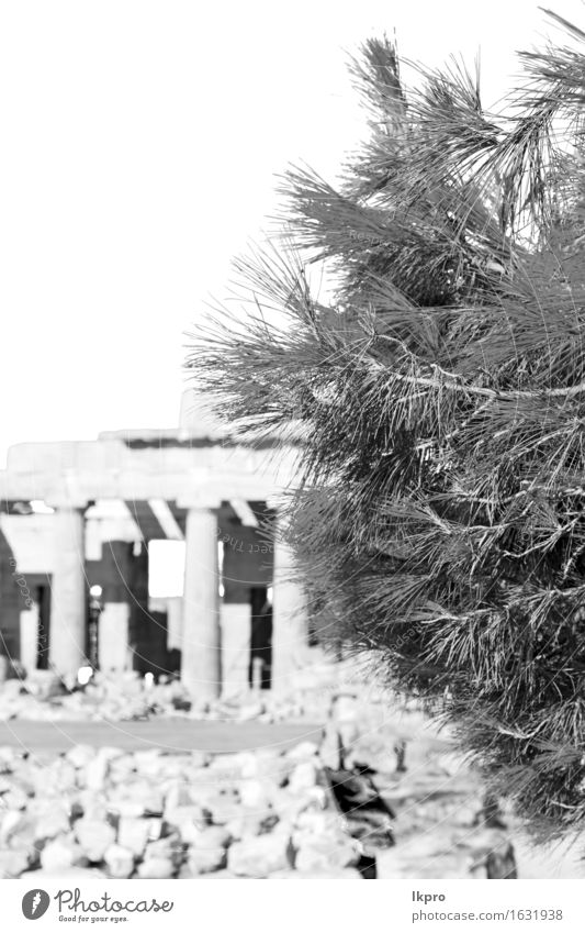 and historical place parthenon athens Vacation & Travel Art Theatre Culture Sky Ruin Building Architecture Monument Stone Old Yellow Gray Black White