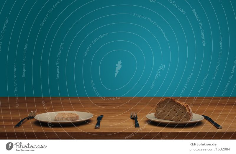 Eating Small Food Large Uniqueness Poverty Many Turquoise Appetite Luxury Sustainability Bread Plate Knives Rich Symmetry