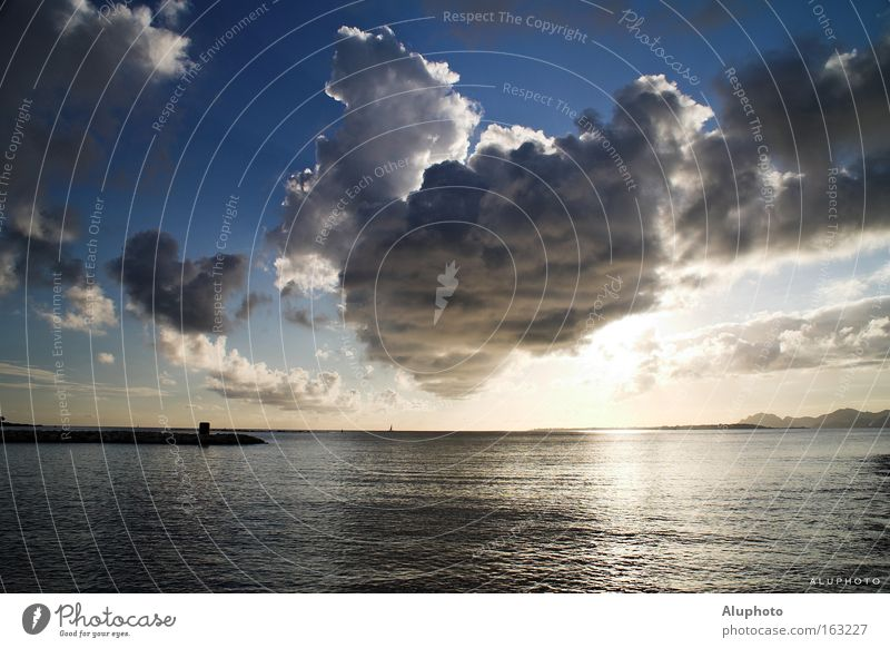Sun Ocean Blue Coast Peace France Thunder and lightning Southern France Cote d'Azur
