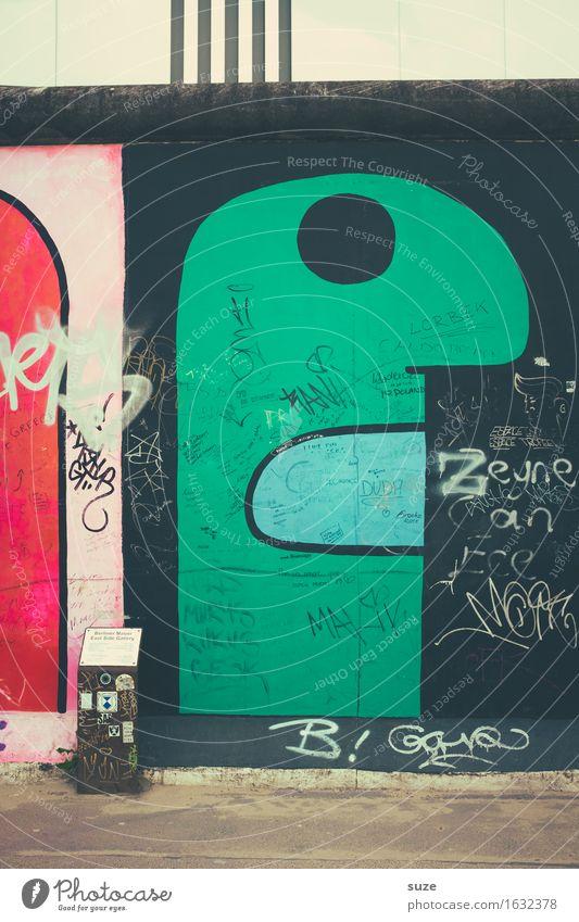 Green Face Eyes Wall (building) Graffiti Berlin Wall (barrier) Mouth Figure Monster