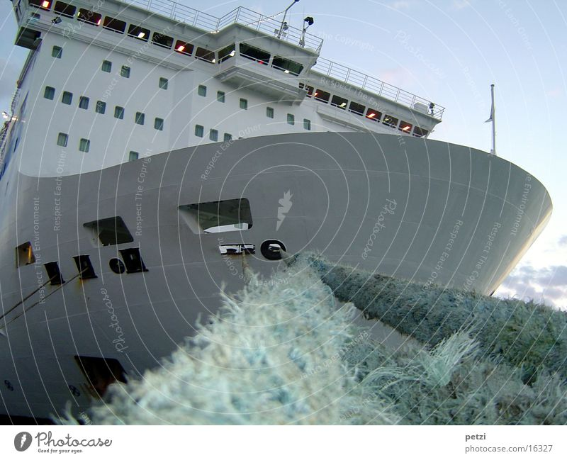 ferry Watercraft Ferry Rope To anchor Navigation moored in port before the end of