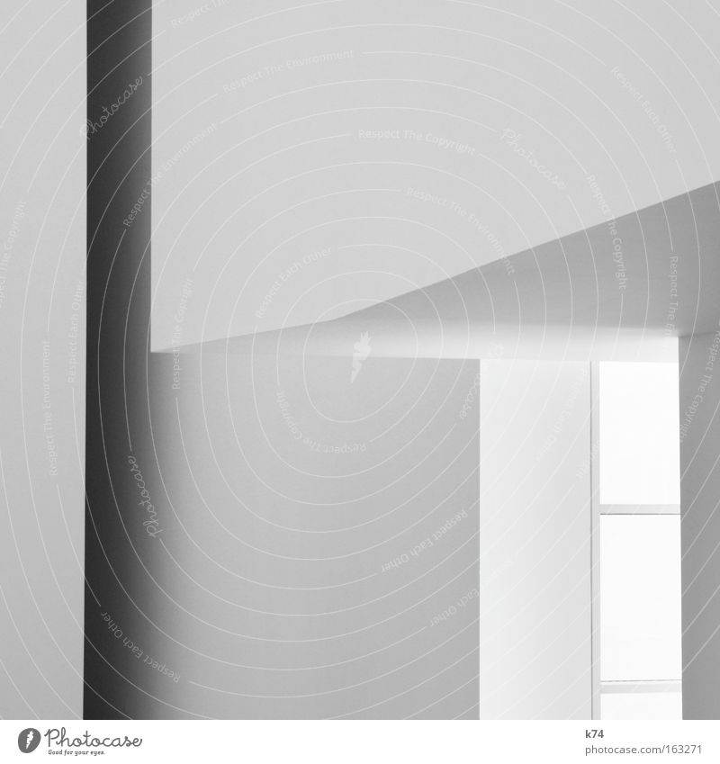White Dark Window Gray Line Bright Modern Corner Gloomy Illustration Geometry Graphic Stationery Minimal Monochrome