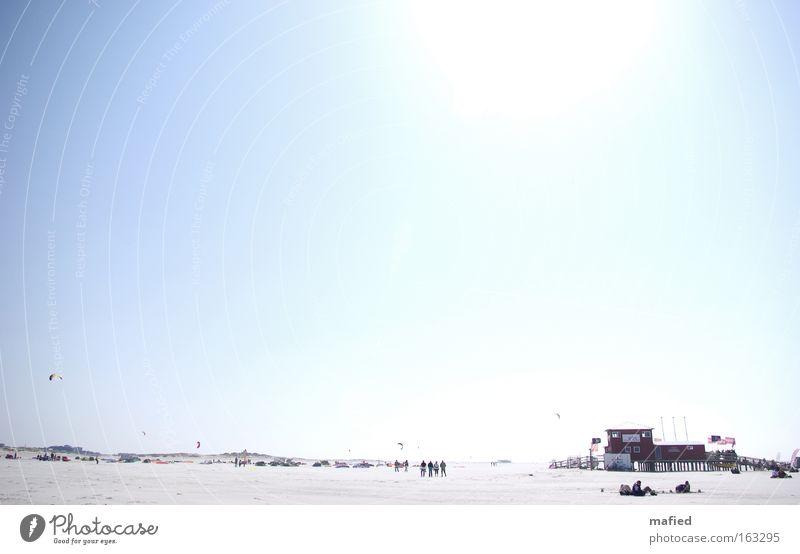 Sky Water Sun Ocean Beach Far-off places Sand Lighting North Sea Overexposure High-key