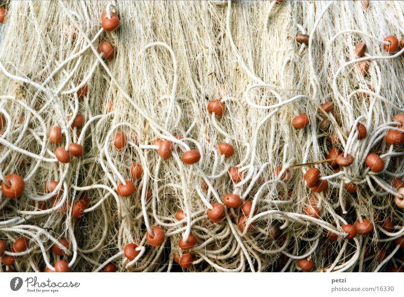 fishing nets Muddled Styrofoam Red White Craft (trade) Net Fishing (Angle) Sewing thread Rope