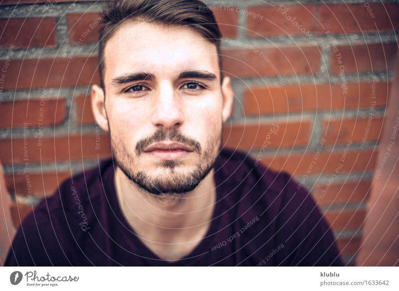 Handsome caucasian young man Man City Beautiful White Face Adults Environment Style Lifestyle Happy Leisure and hobbies Modern Creativity Smiling