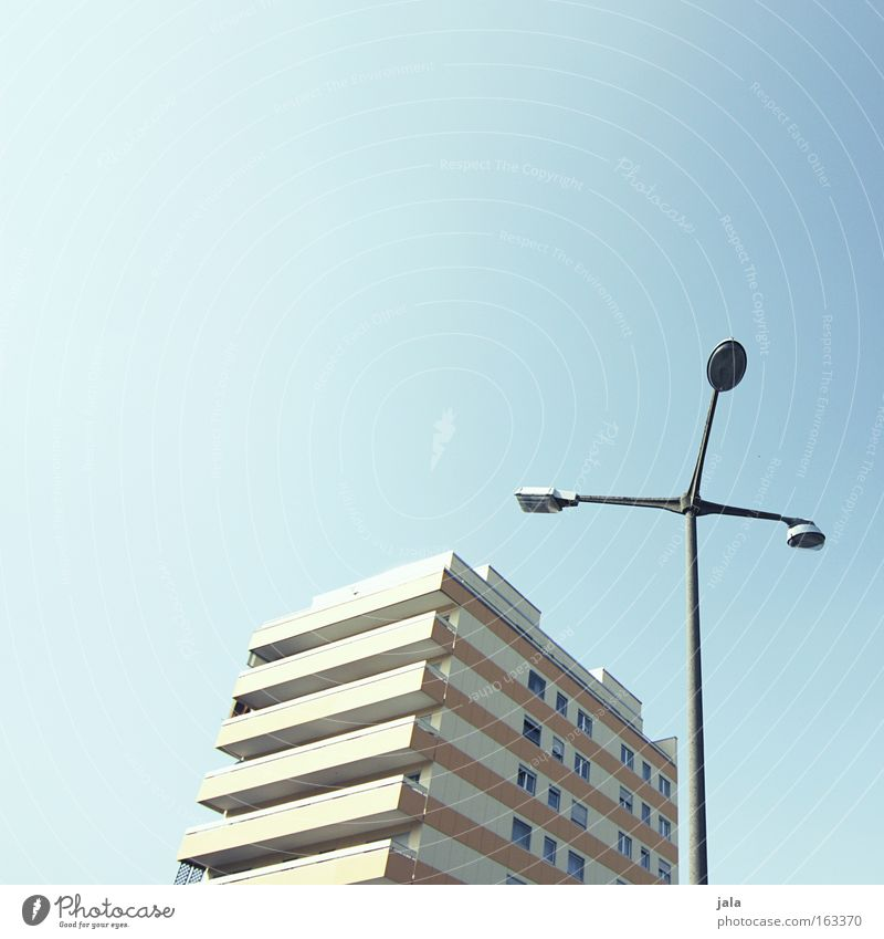 Sky Blue City House (Residential Structure) Building Bright Beautiful weather Lantern Street lighting