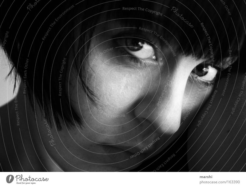 Woman Face Eyes Emotions Sadness Grief Longing Portrait photograph Distress Miss
