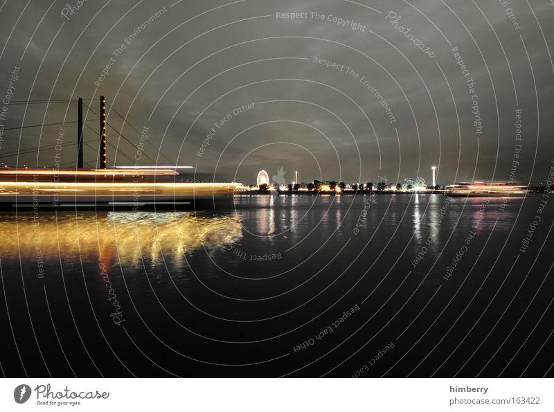 City Joy Style Watercraft Moody Design Large Trip Lifestyle Bridge Energy industry Logistics Tourism River Leisure and hobbies Skyline