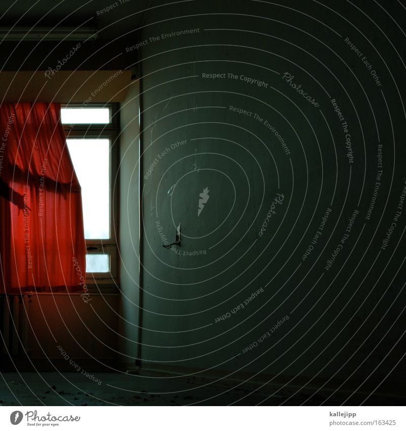 Hand Red Window Room Shows Creepy Theatre Stage play Drape Entertainment Actor Window board