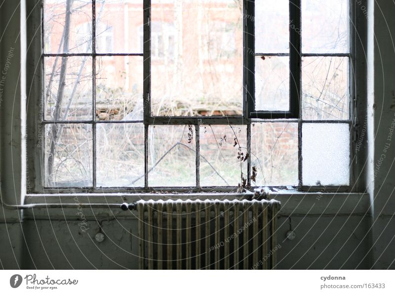 Window Freedom Glass Time Open Romance Factory Transience Longing Derelict Decline Past Thought Heater Heating Vacancy