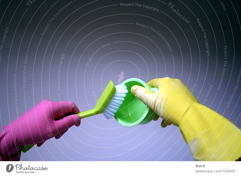 rinsing hands Gloves Do the dishes Action Left-handed Protection Hand Household Colour Kitchen dishwashing brush swab Clean colorful pink yellow green