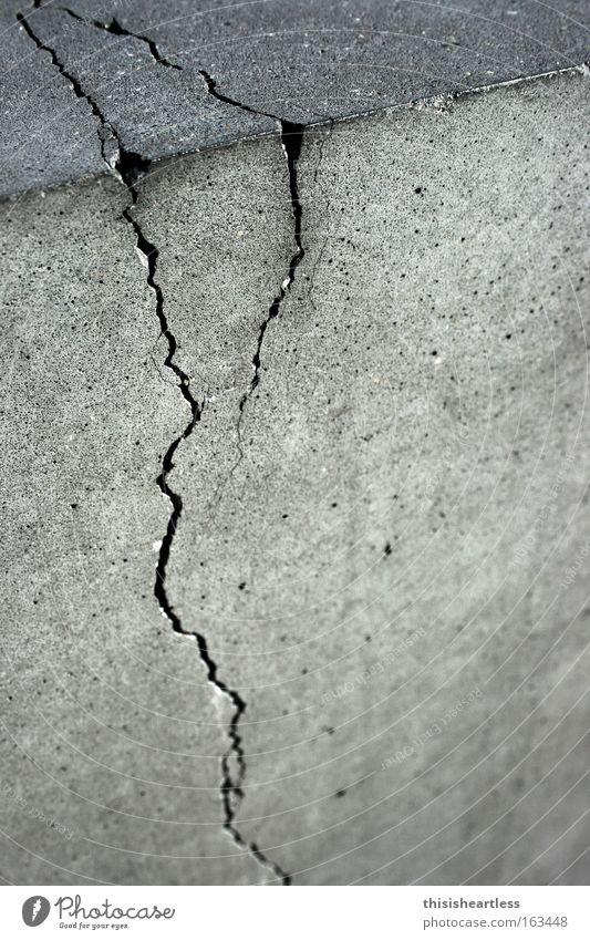 Don't you tear it off! Concrete Crack & Rip & Tear Rust Gray Cement Utilize Old Corner Broken Worn out Column Heartless Detail Landmark Monument