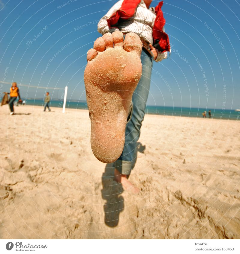 Summer Joy Beach Vacation & Travel Feet Baltic Sea Human being