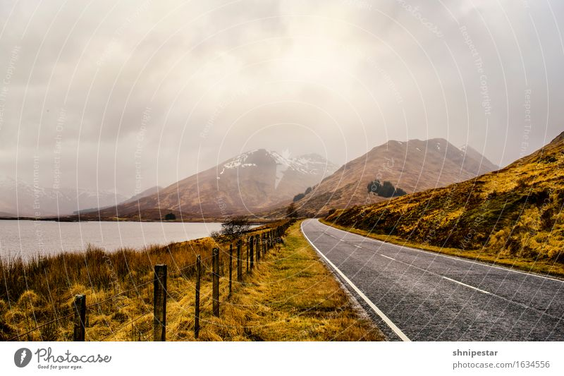 Highland Road Well-being Relaxation Calm Vacation & Travel Tourism Trip Adventure Expedition Mountain Hiking Nature Landscape Elements Clouds Weather Storm Rain